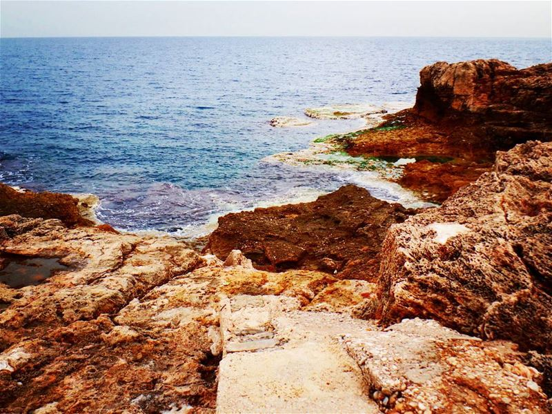 💙 Look beyond the horizon and have sweetdreams 💙 batroun ... (The Phenician Wall - Batroun)