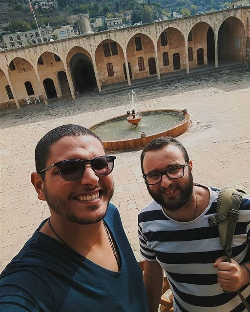 Selfie From Chouf Beiteddine Monuments Castle fountain Goodtimes ... (Beit ed-Dine)