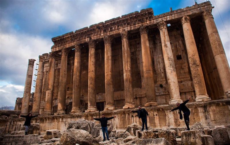 good_morning memories Monuments Architecture Old Empire Sky Temple... (Baalbek, Lebanon)