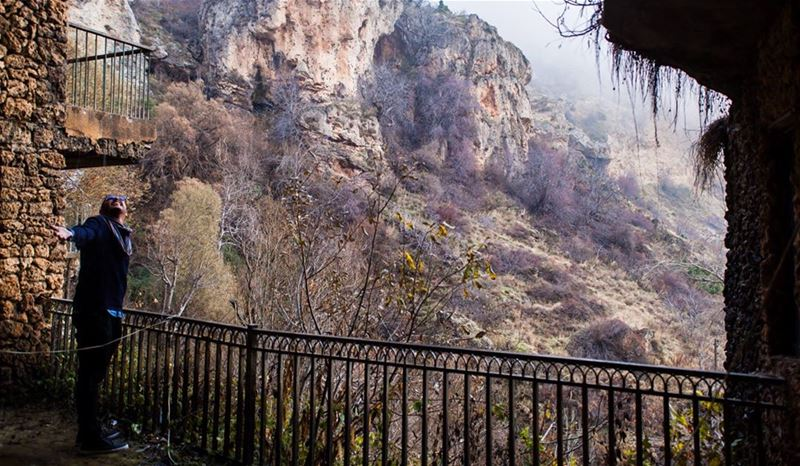 TBWinter TBTravel sky Mountains Trees Landscape Nature Beauty Fog... (Jeita Grotto)