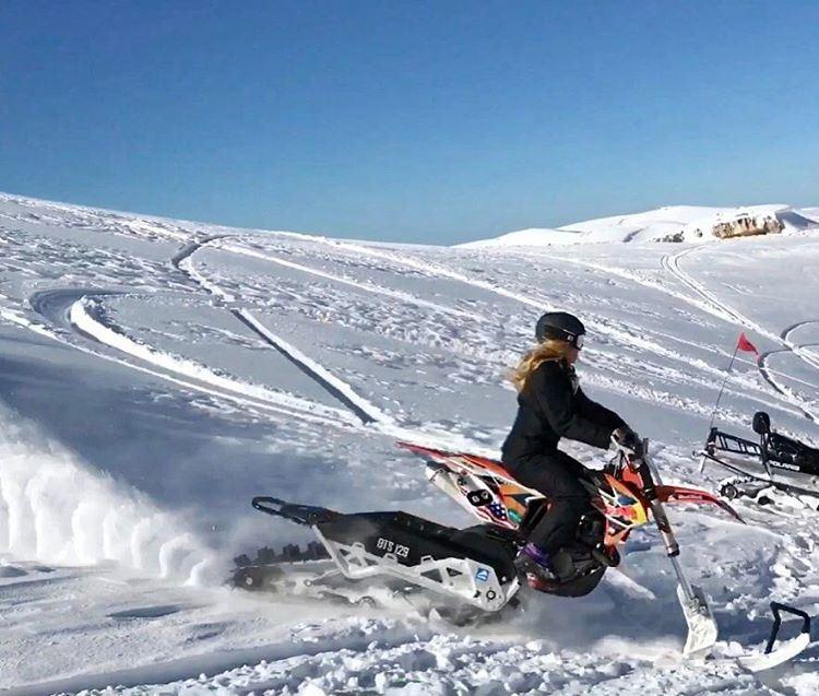 Winter wheels ☃️ 🏂 👌 timbersled ktm snowbike mountains faraya ... (Faraya Mzaar)