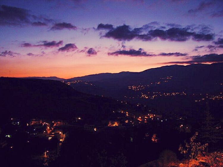 However long the night, the dawn will break! clouds nightlights night ... (Mazra`At Ash Shuf, Mont-Liban, Lebanon)