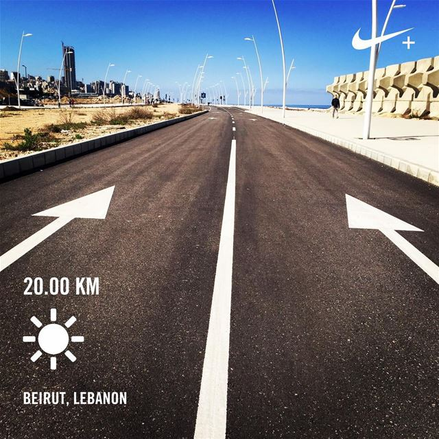You can stay lazy or you can comerunwithus WeRunBey roadrunner ... (Beirut Waterfront)