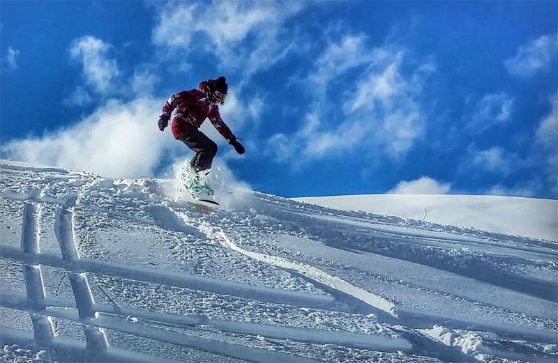 snow❄️ is everywhere powpow 2017 snowboarding faraya mzaar ...