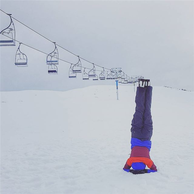 headstand on the slopes winterfun winterseason snowboarding time!...