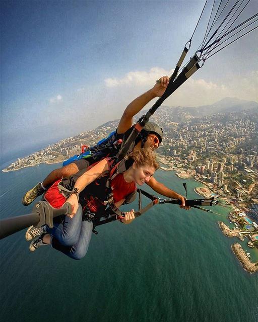 paragliding with paraglidingclubthermique above lebanon jounieh 360...