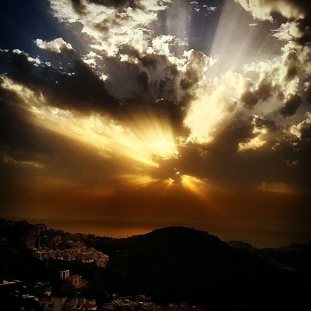 lebanon zekrit amazing sunset sky light sea mountain ...
