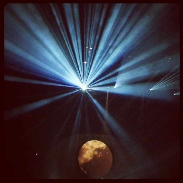 BritFloyd pinkfloyd concert lebanon 2013 lighting effects moon ...