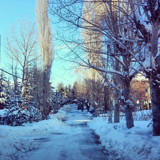 lebanon faraya mzar winter...