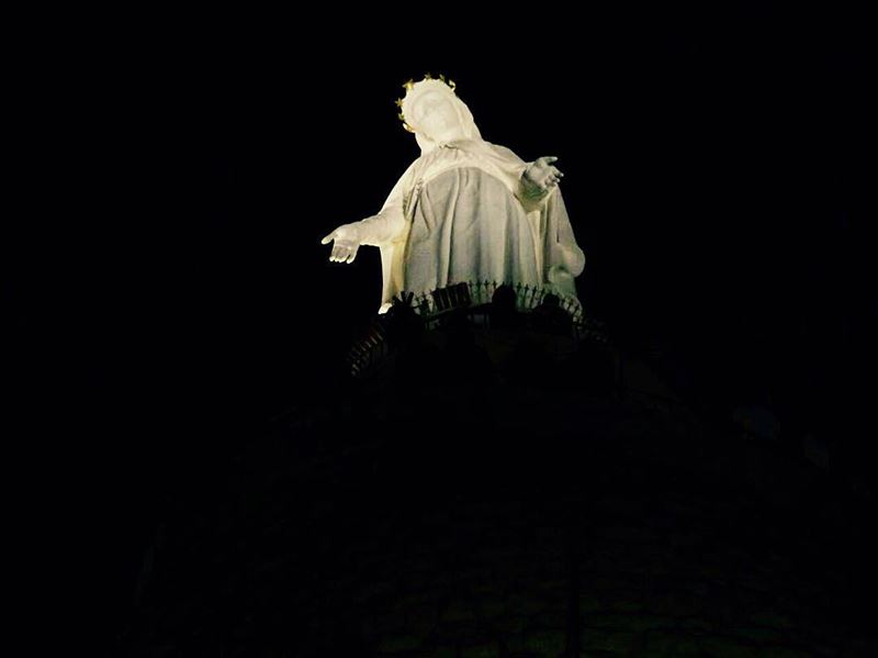 On Sunday of the dead, a picture full of yearning and... (The Lady of Lebanon - Harissa)