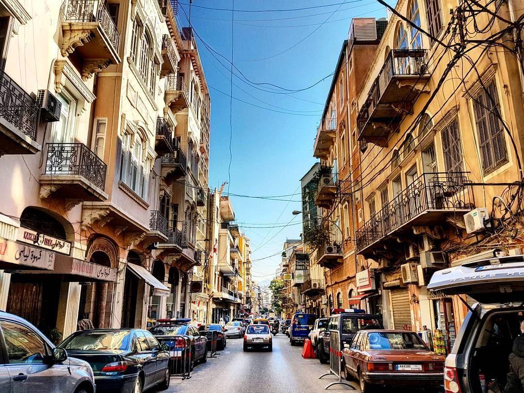 Friday Dreaming wishiwasthere bigbluesky gemmayze scene citylife ... (Beirut, Lebanon)