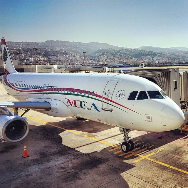 Cedarjets lebanese landscape mountains cedarjet mea ... (Beirut–Rafic Hariri International Airport)