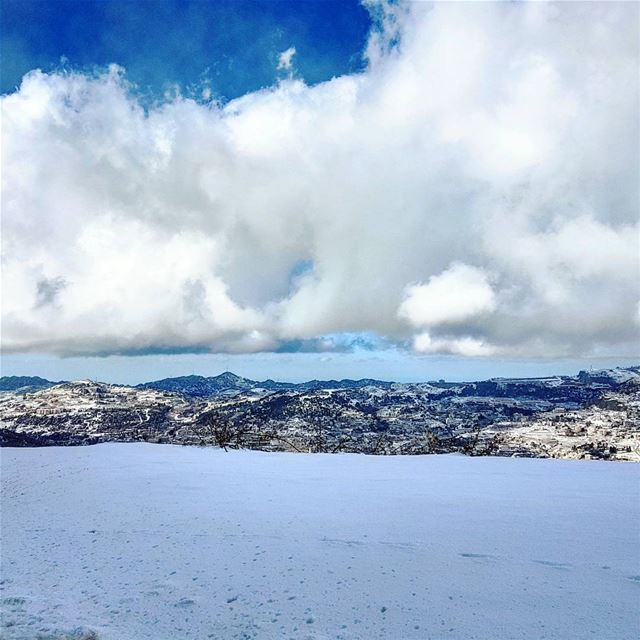 Rise layered reachforthesky lebanese alpine mountain landscape ... (Faraya Mzaar)