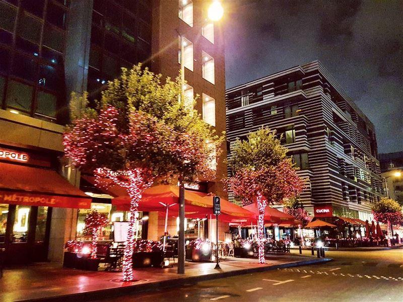 Metropolitan metropole christmas lights lebanese citylife urban ... (Beirut, Lebanon)
