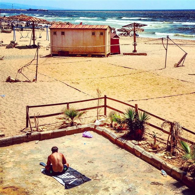 Missing the Point beachlife bythesea mediterranean light ... (Beirut, Lebanon)