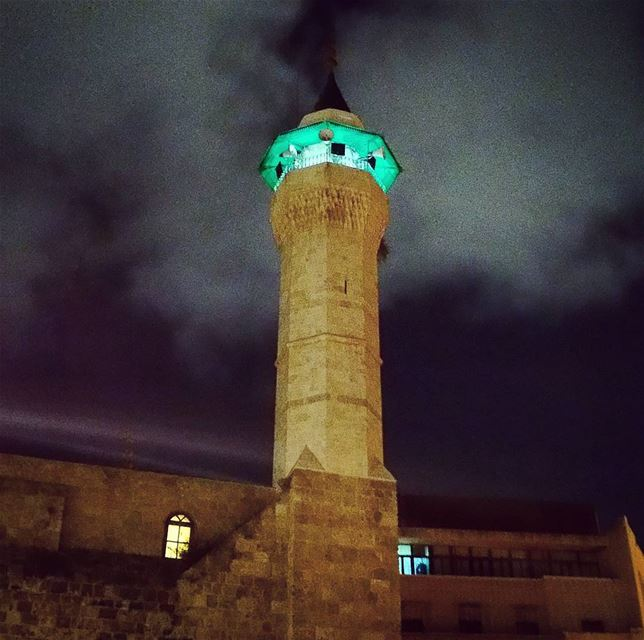 Caller evening calltoprayer electric minaret religious architecture ... (Beirut, Lebanon)