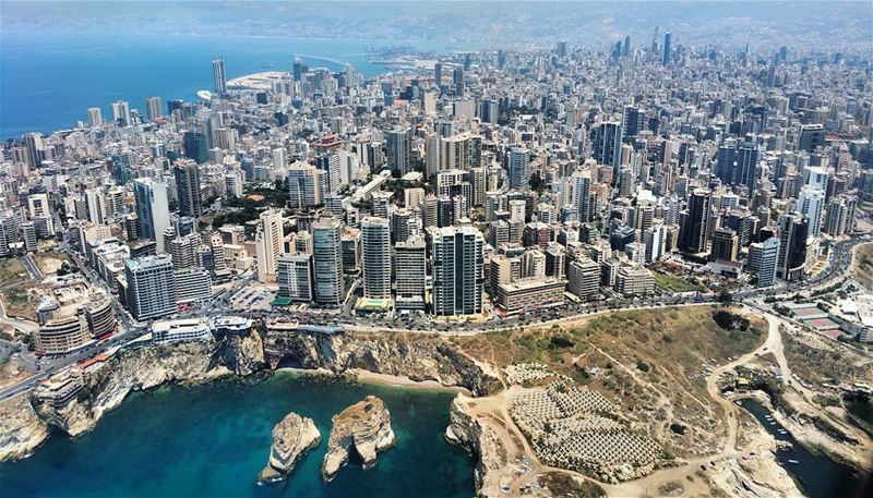 Pigeons  inflight  landing  windowseat  pigeonrocks  beirut  skyline ...