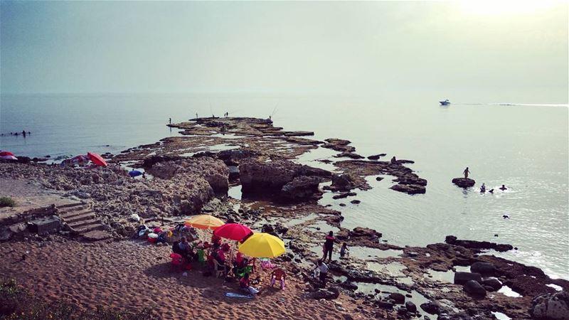 Sound of Laughter afternoons bythesea nostalgia mediterranean coastal... (Tyre, Lebanon)