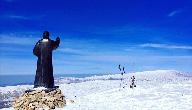 Blessing from the top (2500m)!..... welivetoexplore ... (Mzaar Ski Resorts - Kfardebian)