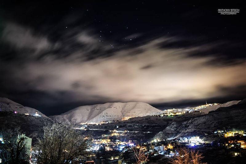 Cold winter nights 🌌 (Faraya, Mont-Liban, Lebanon)