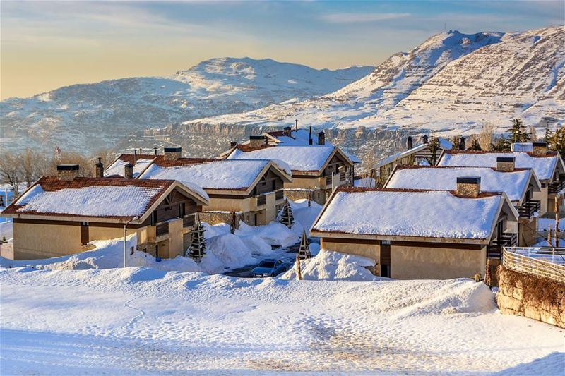.This is Lebanon | the beautiful village of Faqra covered by snow ! |... (Kfardebian)