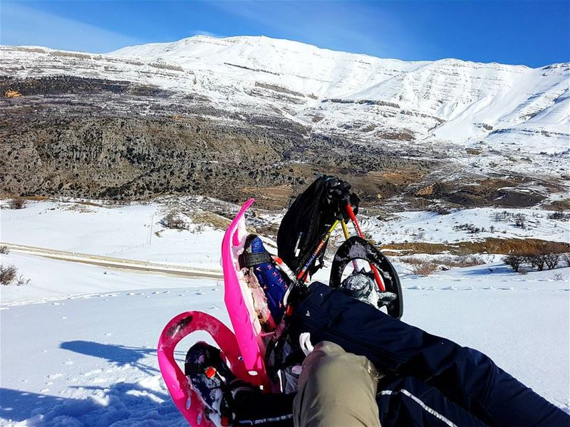 snow snowshoeing friends bsetfriends beautiful bestfriends goodtime... (Zaarour)
