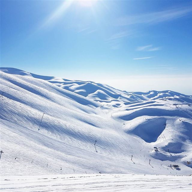 Sundays in Middle East? 🏂 faraya mzaar lebanon middleeast amazing ... (Faraya Mzaar)
