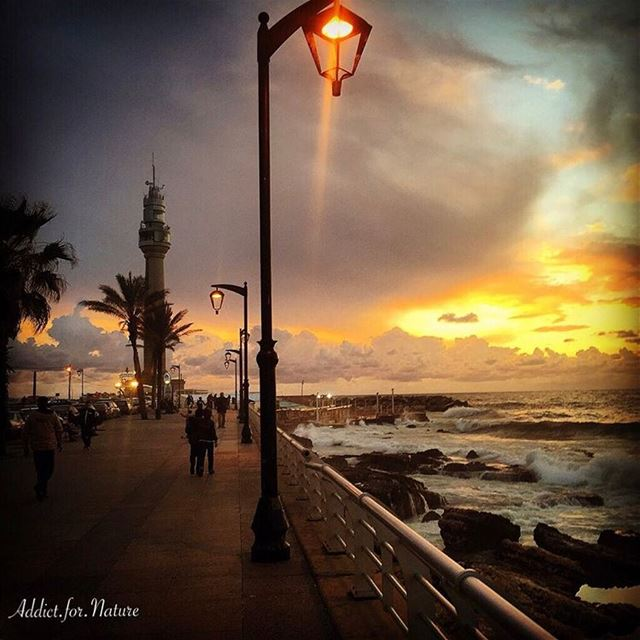 Come walk with me along the beach where sunsets seem within reach. We'll... (Manara Beirut)
