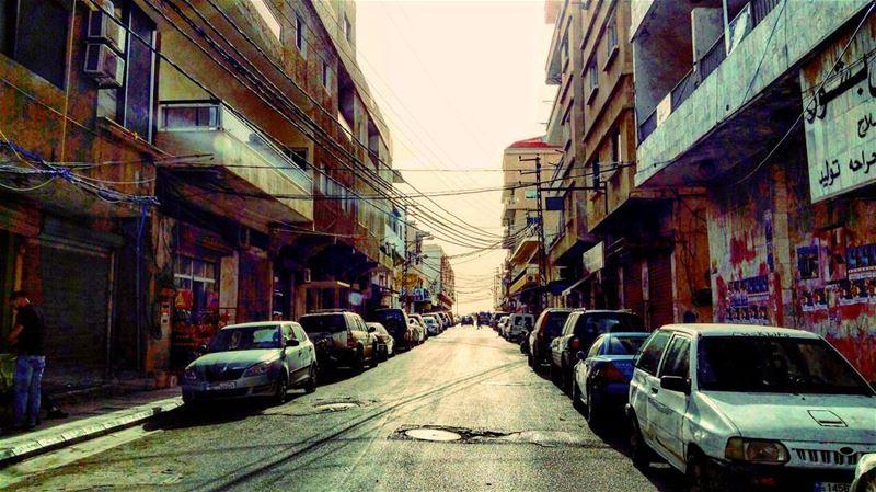 Breaking Through weekend mediterranean urban landscape light ... (Tyre, Lebanon)