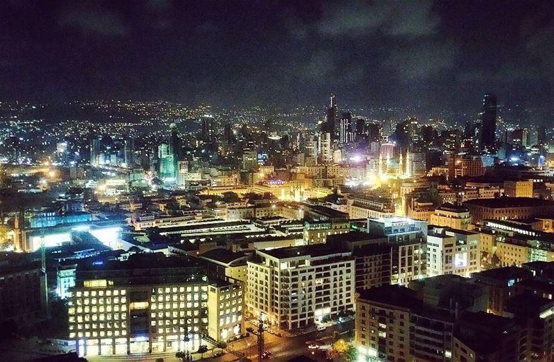 Geode crystalline night urban landscapes architecture citylife ... (Beirut, Lebanon)