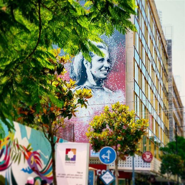 Sabah el Kheir iconic lebanese arab diva sabah beirut urban ... (Hamra street , Beirut - شارع الحمرا ، بيروت)