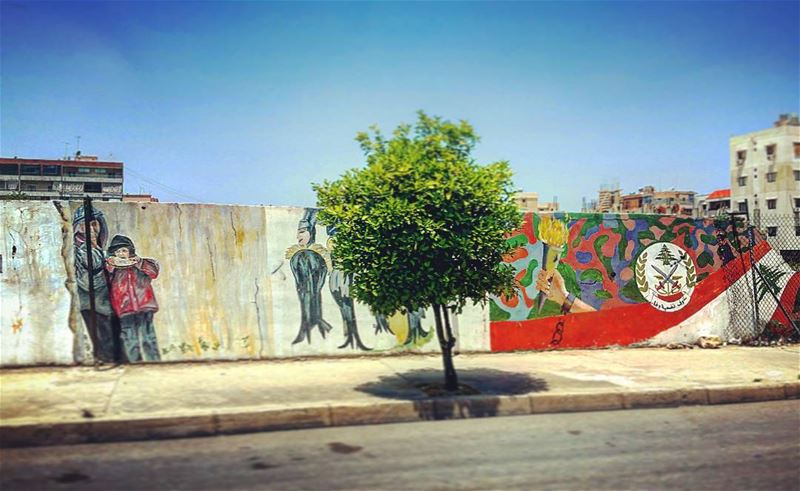 Lonesome  wallart  lebanese  urban  landscapes  art  design  culture ... (Sidon, Lebanon)
