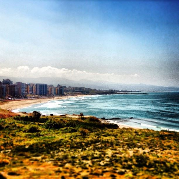 Familiar  ramletelbayda  beirut  lebanon  beach  coast  landscapes  cities...