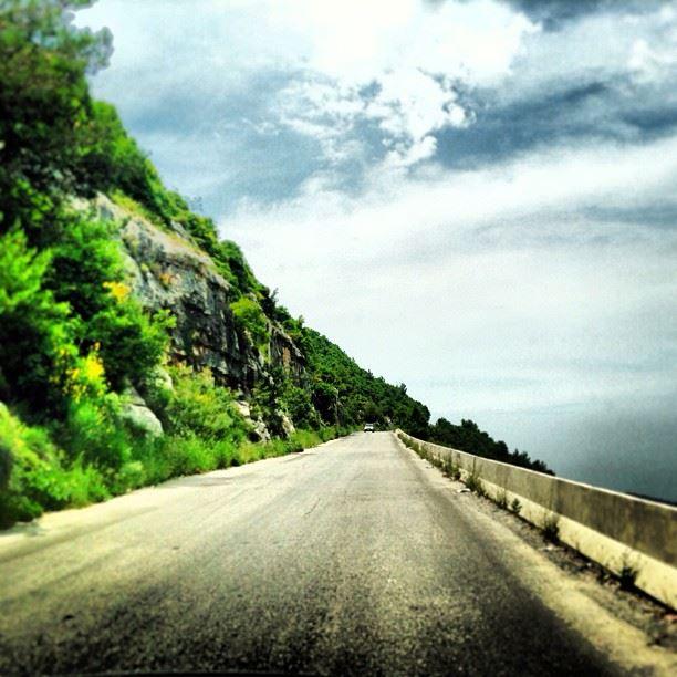 Never Stop beautiful roads lebanon horizon sky nature colour ...