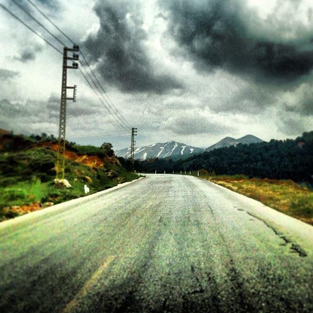 Telegraph stretching climbing horizon roads landscapes mountains ...