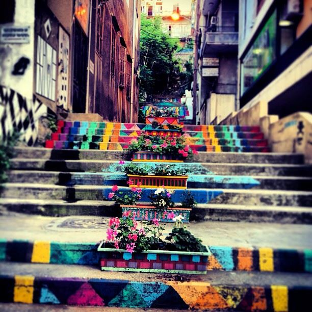 ROYGBIV  stairway  citylife  streetlife  rainbow  colour  architecture ...