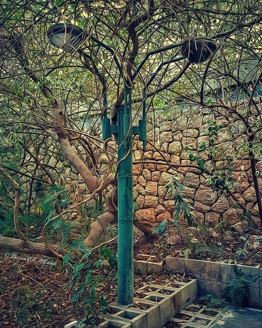 Cette lampe fantôme; on la croise continuellement au coin de notre chemin... (USJ Mansourieh)