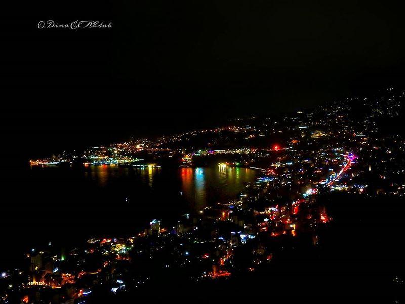 Jounié night lights. 🌃_________ nightlandscape night citylife ... (Joünié)