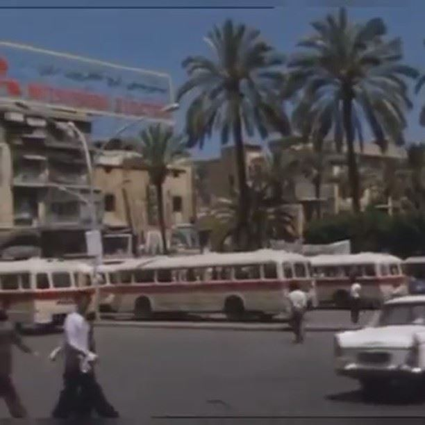 Beirut Parliament Square - Martyrs Square 1971 . (Beirut, Lebanon)