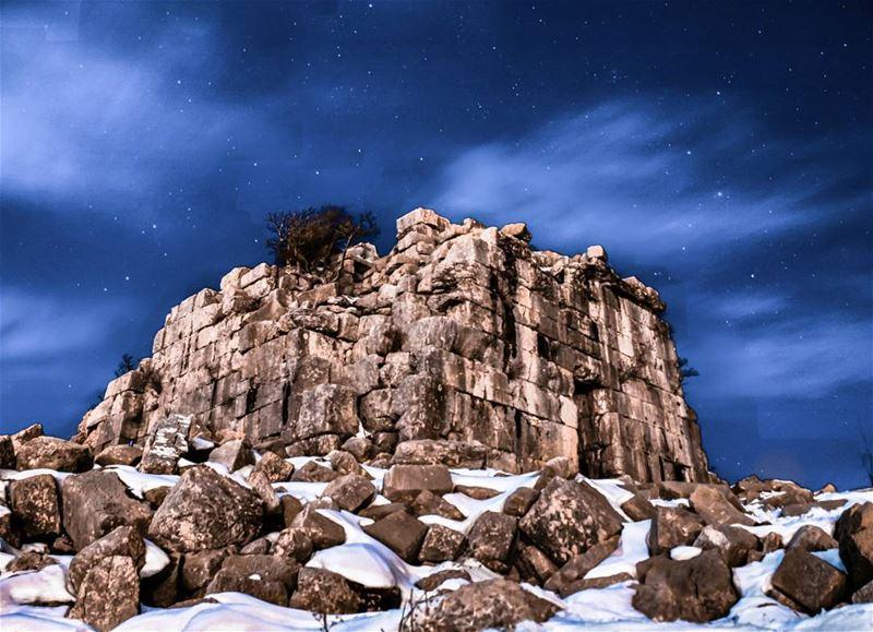 lebanon mountlebanon faqra faqraruins nightphotography ...