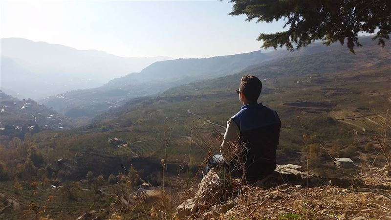 Chasing angels or fleeing demons go to the mountains🗻 livelovebeirut ... (Akoura, Mont-Liban, Lebanon)