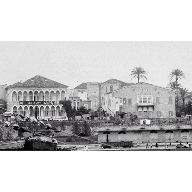 Beirut Near The Port in 1947 .
