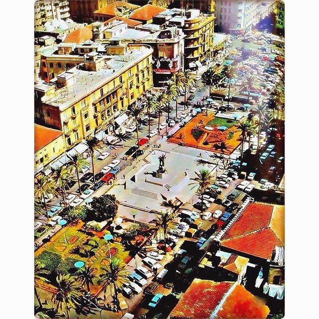 بيروت ساحة الشهداء عام ١٩٧٢ ،