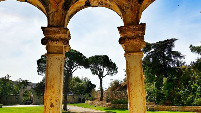 Arch consists of two weaknesses which, leaning on each other, become a... (Donna Maria Sursock Gardens)