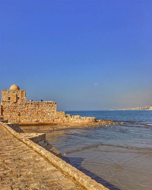 Big Little Lies.... sidon ruins nature sky_captures ancientcastle ... (Saida The Sea Castle)
