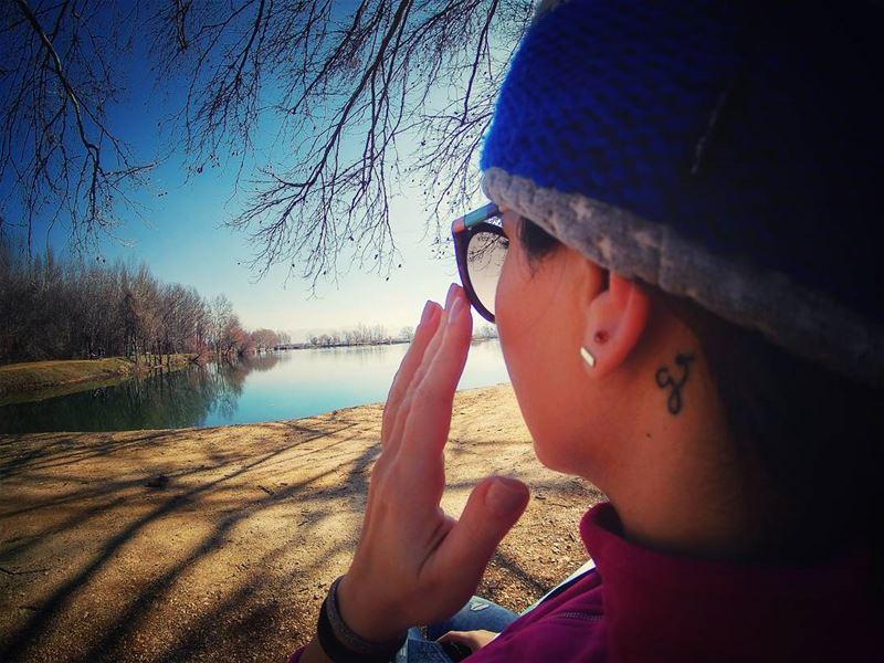 When life gets blurry, adjust ur focus 🔁 zahle taanayel lake nature... (Taanayel Lake)