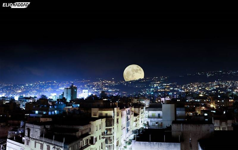 🇱🇧 MyLebanon 🇱🇧 Beirut Lebanon SuperMoon Moon Night Sky city ...