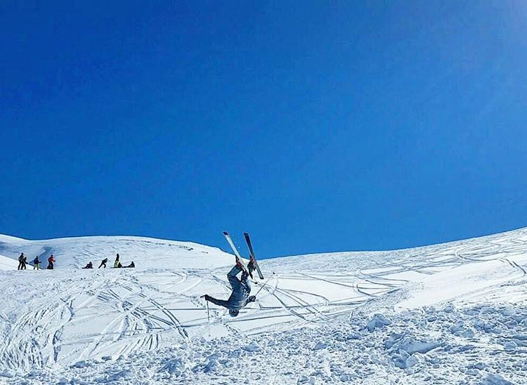 faraya  farayalovers  lebanon  sports961  whatsuplebanon  backflip  ski ... (Faraya Mzaar)