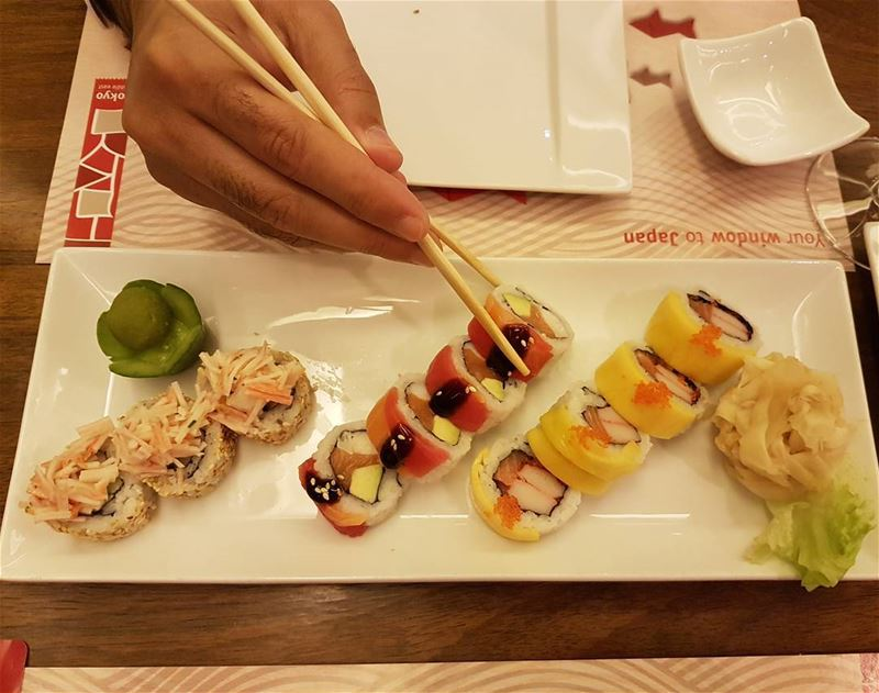 Having a healthy diner at Tokyo Middle East tokyo sushi bestsushi... (Tokyo Middle East)