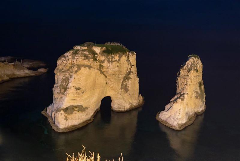 LEBANON 🇱🇧📷 - Raouche Rocks••••• Lebanon SeriesOfTee Beirut ... (Beirut, Lebanon)